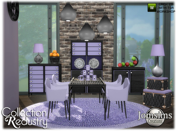 Redustry dining room by jomsims at TSR image 933 Sims 4 Updates