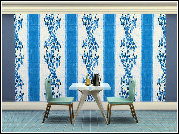 The Blues Walls by marcorse at TSR image 9413 Sims 4 Updates
