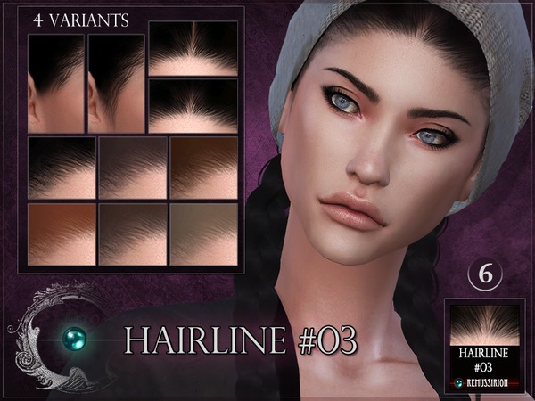 Sims 4 Hairline #03 by RemusSirion at TSR
