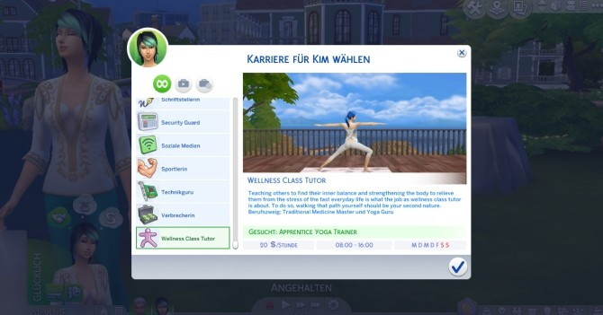 Sims 4 Wellness Career by Marduc Plays at Mod The Sims