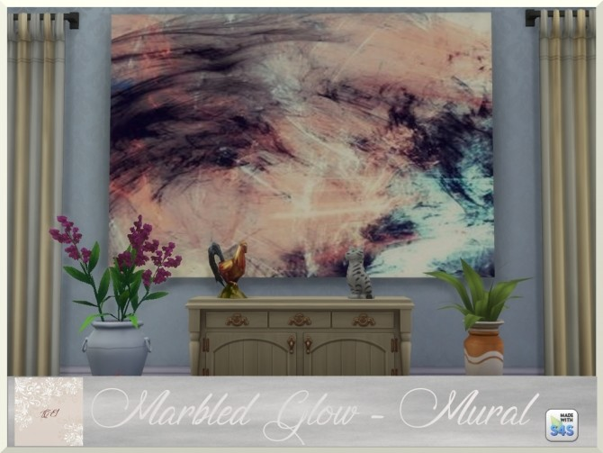 Marbled Glow two paintings and rug by augold44 at Mod The Sims image 955 670x503 Sims 4 Updates