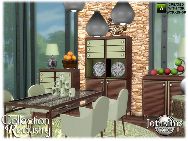 Redustry dining room by jomsims at TSR image 963 Sims 4 Updates
