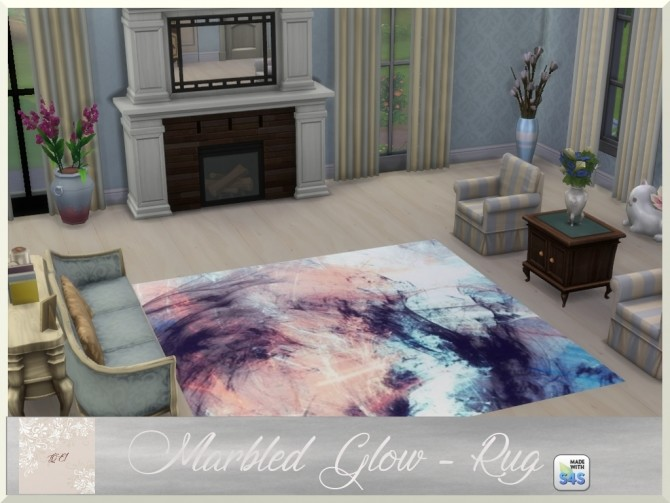 Marbled Glow two paintings and rug by augold44 at Mod The Sims image 966 670x503 Sims 4 Updates