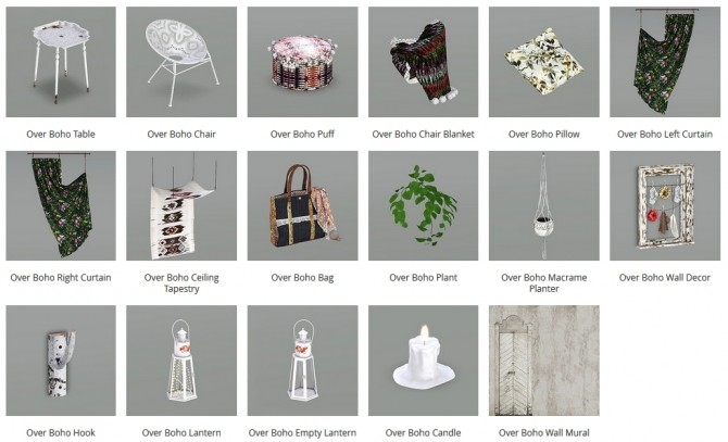 Sims 4 Overboho mix of modern and antique objects at Milla's Creative Corner