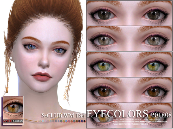 Eyecolors 201808 by S Club WM at TSR image 974 Sims 4 Updates