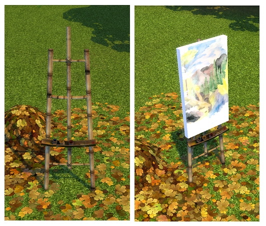 Sims 4 Castaway Stories Master Painters Easel by BigUglyHag at SimsWorkshop