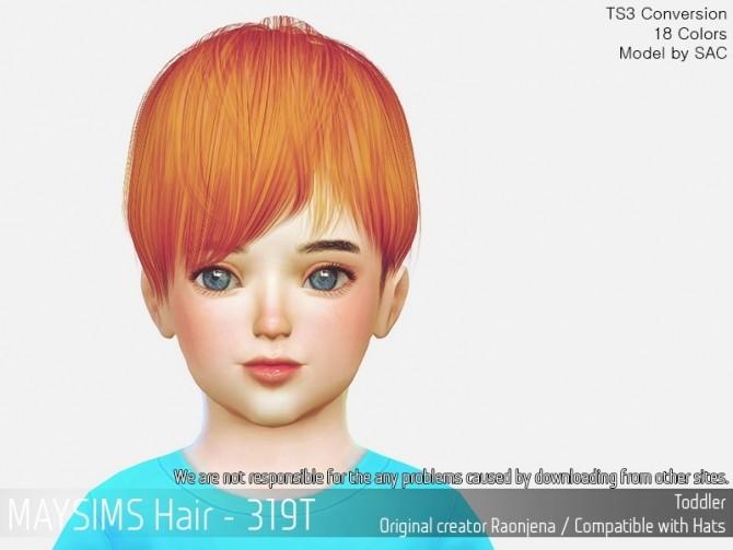 Sims 4 Hair 319T (Raonjena) at May Sims