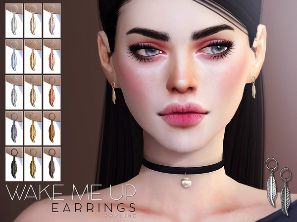 Sims 4 Wake Me Up Earrings by Pralinesims at TSR