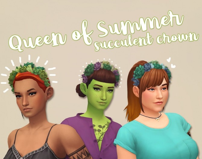 Queen of Summer Succulent Crown at Hamburger Cakes image 10010 670x528 Sims 4 Updates