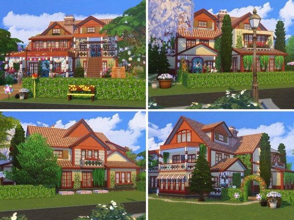 Sims 4 Boho Paradise house by MychQQQ at TSR