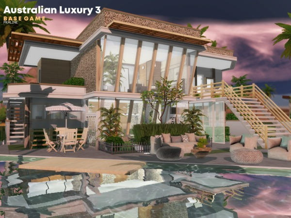 Australian Luxury 3 house by Pralinesims at TSR image 1017 Sims 4 Updates