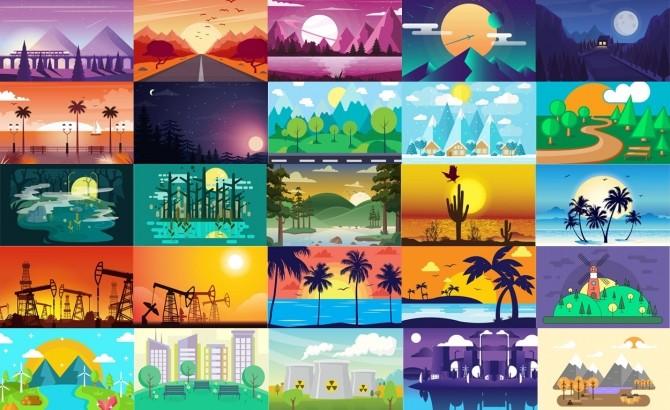 Sims 4 Vector art paintings at Midnightskysims