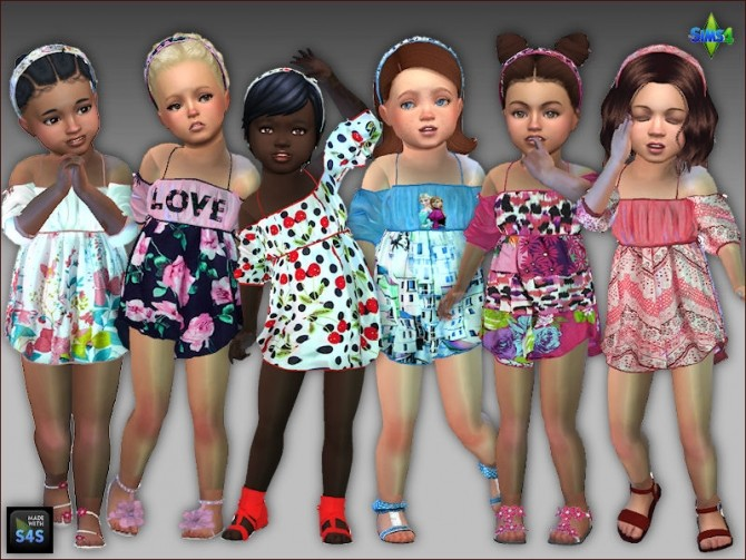Summer dresses and headbands for toddler girls at Arte Della Vita image 10215 670x503 Sims 4 Updates