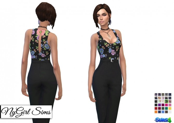 Tank Jumpsuit with High Waist Belt at NyGirl Sims image 10310 670x474 Sims 4 Updates