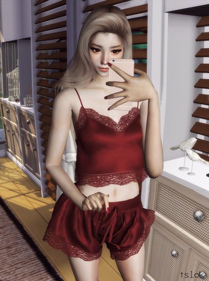 Eva silk cami set at TSLOK image 1035 670x900 Sims 4 Updates
