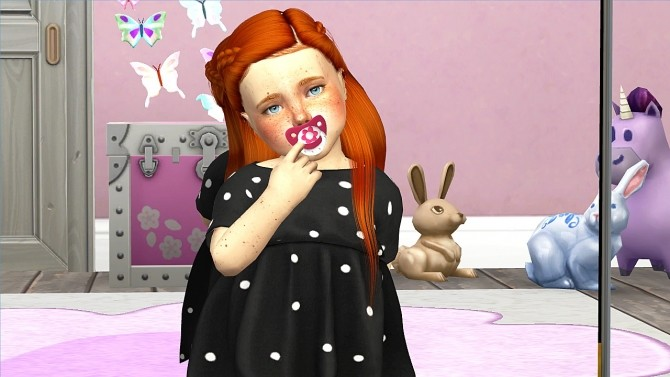 LEAH LILITH ARI HAIR KIDS AND TODDLER VERSION by Thiago Mitchell at REDHEADSIMS image 104 670x377 Sims 4 Updates
