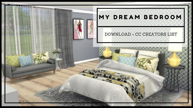 Sims 4 My Dream Bedroom at Dinha Gamer