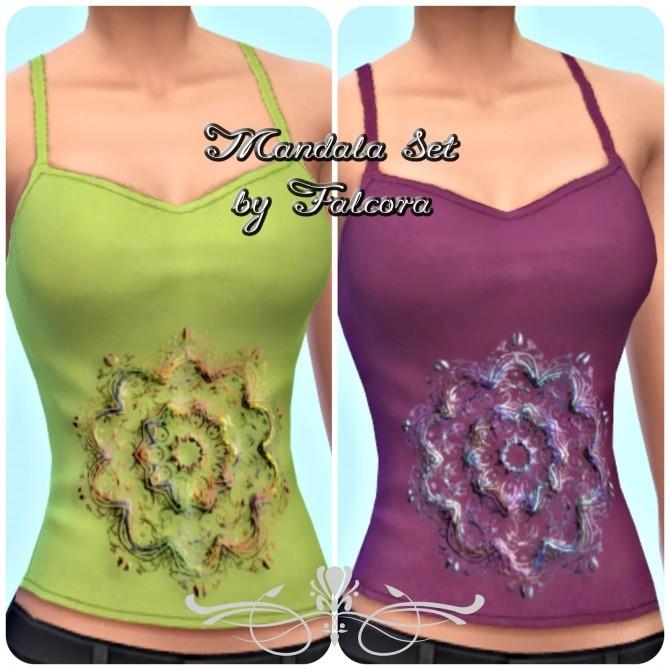 Mandala Set 9x tank top at Petka Falcora image 1064 670x670 Sims 4 Updates