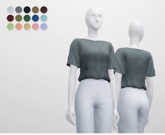 Linen Blouse at Rusty Nail image 1066 670x548 Sims 4 Updates