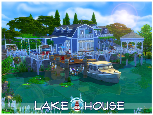 Lake House by Waterwoman at Akisima image 1068 Sims 4 Updates