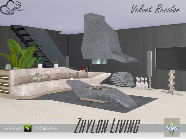 Zhylon Livingroom Recolor Set by BuffSumm at TSR image 1080 Sims 4 Updates