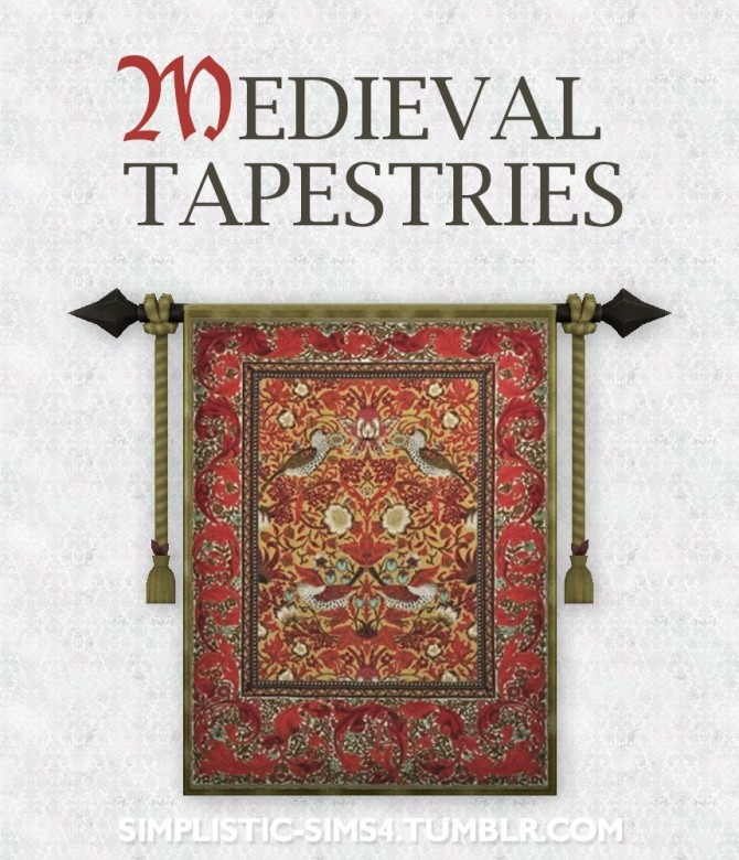 Medieval Tapestries at SimPlistic image 10811 670x780 Sims 4 Updates