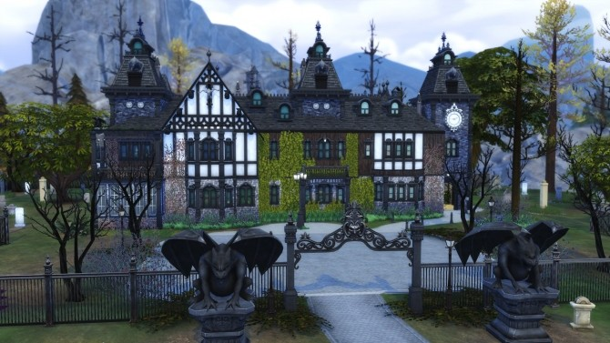 Sims 4 Corvinus Manor No CC by Chaosking at Mod The Sims