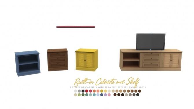 Hamptons Builtin Intergrated Furniture Options at Simsational Designs image 1087 670x377 Sims 4 Updates