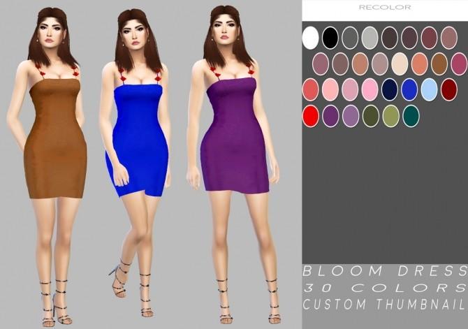 Sims 4 Bloom Dress at Simply Simming