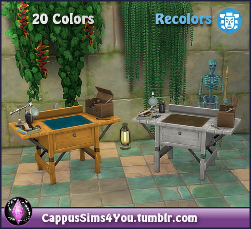 Colorful archeology workbench at CappusSims4You image 11010 Sims 4 Updates