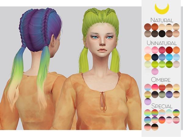 Sims 4 Hair Retexture 67 LeahLilliths Freaky by Kalewa a at TSR