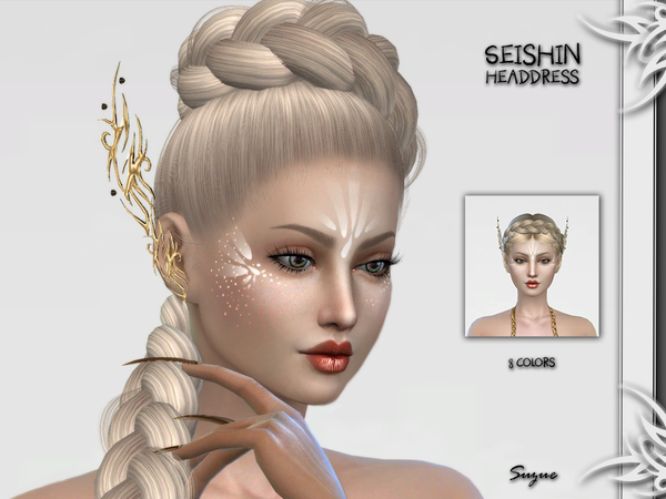 Sims 4 Seishin Headdress by Suzue at TSR