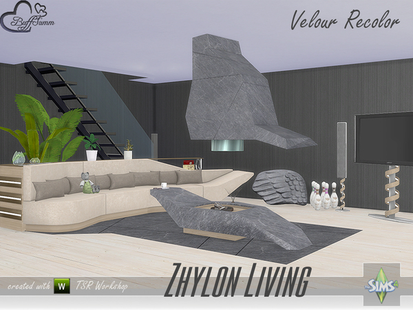 Zhylon Livingroom Recolor Set by BuffSumm at TSR image 11100 Sims 4 Updates