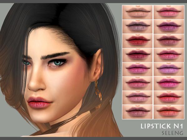 Sims 4 Lipstick N1 by Seleng at TSR
