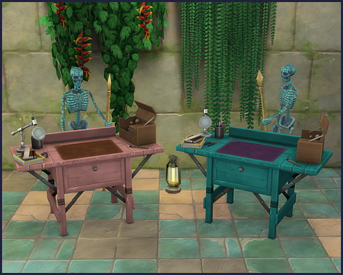 Colorful archeology workbench at CappusSims4You image 11112 Sims 4 Updates