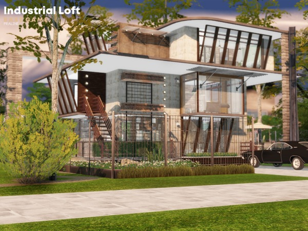 Sims 4 Industrial Loft by Pralinesims at TSR