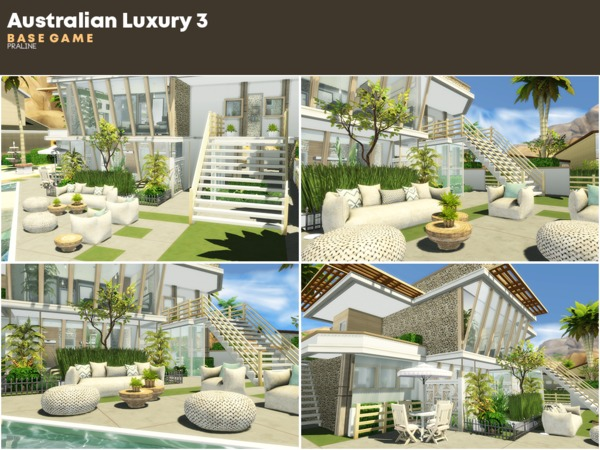 Australian Luxury 3 house by Pralinesims at TSR image 1114 Sims 4 Updates