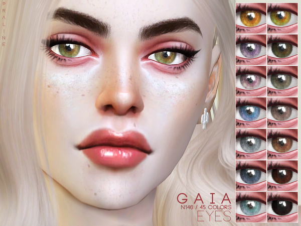 Sims 4 Gaia Eyes N146 by Pralinesims at TSR