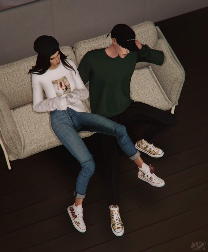 Sims 4 Positive Sneakers & Flowers at MMSIMS