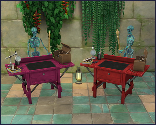 Colorful archeology workbench at CappusSims4You image 1128 Sims 4 Updates
