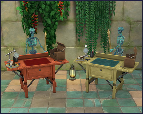 Colorful archeology workbench at CappusSims4You image 1136 Sims 4 Updates