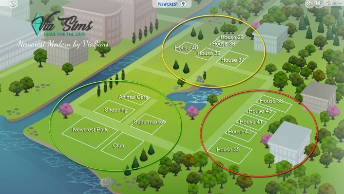 Sims 4 Build Modern Newcrest at Via Sims