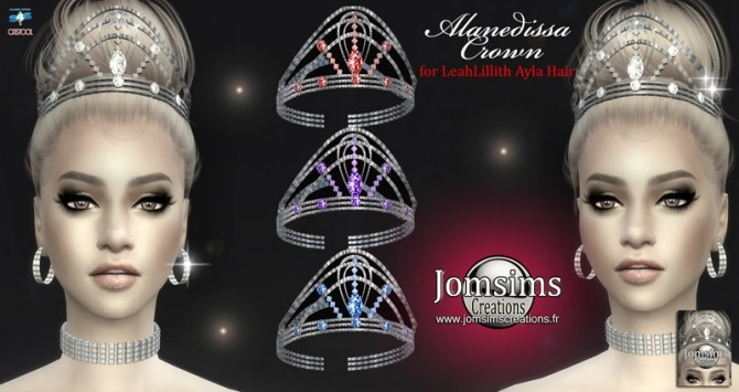 Alanedissa Crown for LeahLillith Ayla Hair at Jomsims Creations image 1165 670x355 Sims 4 Updates