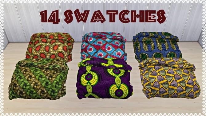 Sims 4 Sympxls African Comforter recolors at TaTschu`s Sims4 CC