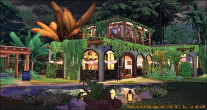 Sims 4 Beautiful Bungalow NoCC at Tanitas8 Sims
