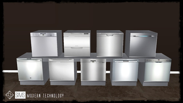 MG24 IDBD NS Functional Dishwasher Retexture at Sims Modern Technology image 1198 Sims 4 Updates
