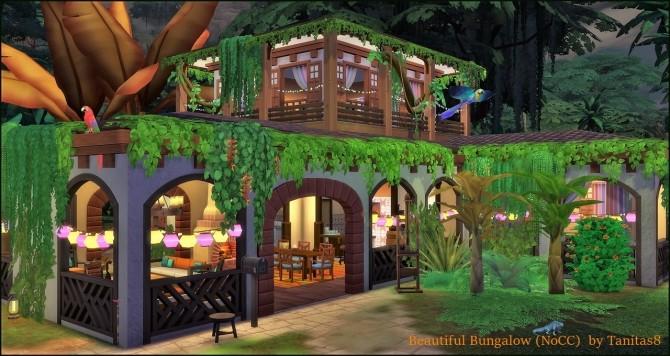 Beautiful Bungalow NoCC at Tanitas8 Sims image 1205 670x356 Sims 4 Updates