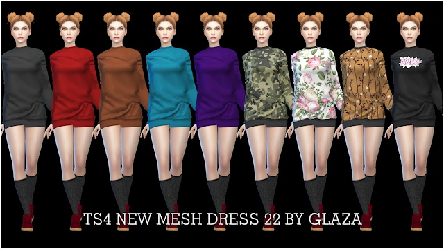 Sims 4 Dress 22 at All by Glaza