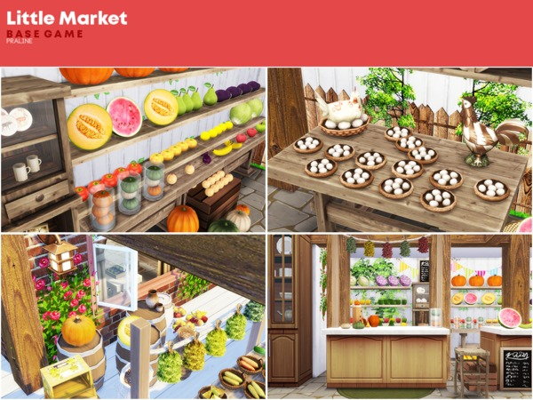 Little Market by Pralinesims at TSR image 1210 Sims 4 Updates