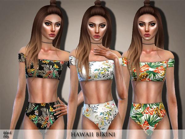 Sims 4 Hawaii Bikini by Black Lily at TSR